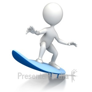 ID# 7935 - Surfing Figure - Presentation Clipart