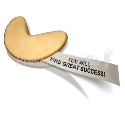 Fortune Cookie Success Message PowerPoint Clip Art