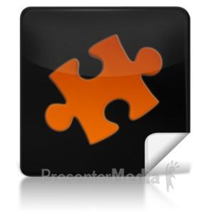 ID# 7961 - Puzzle Square Icon - Presentation Clipart