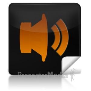 ID# 7962 - Sound Square Icon - Presentation Clipart