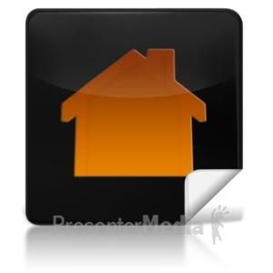 ID# 7964 - Home Square Icon - Presentation Clipart
