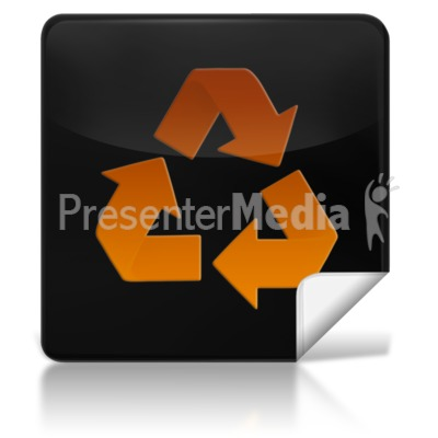 Recycle Square Icon PowerPoint Clip Art