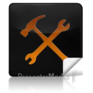 ID# 7969 - Tools Square Icon - Presentation Clipart