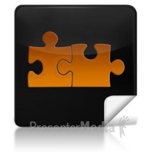 ID# 7972 - Puzzle Connect Square Icon - Presentation Clipart