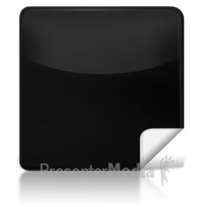 ID# 7975 - Blank Square Icon - Presentation Clipart