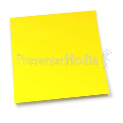 Blank Yellow Sticky Note PowerPoint Clip Art