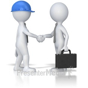 ID# 8028 - Business Meeting Shaking Hands - Presentation Clipart