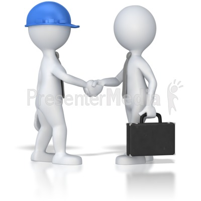 Business Meeting Shaking Hands PowerPoint Clip Art