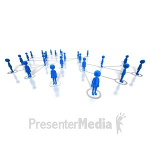 ID# 8030 - People Network - Presentation Clipart