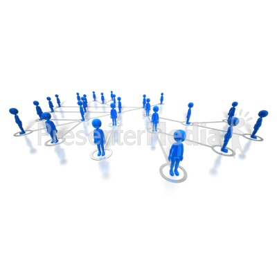People Network PowerPoint Clip Art
