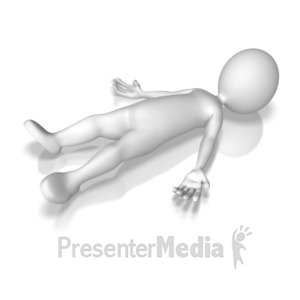 ID# 8057 - Laying Down Pose - Presentation Clipart