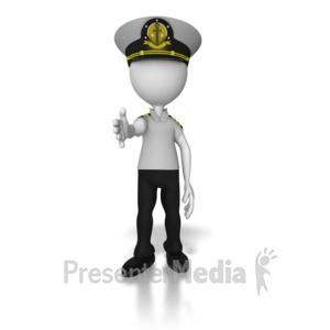 ID# 8064 - Captain Reaching Out Hand - Presentation Clipart