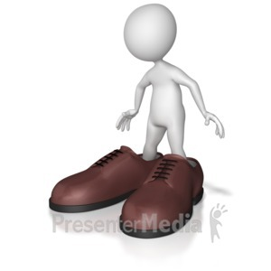 ID# 8090 - Big Shoes To Fill - Presentation Clipart