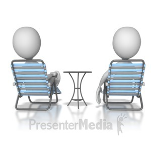ID# 8153 - Stick Figures Relaxing - Presentation Clipart