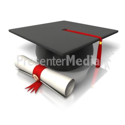 Diploma Hat Graduation PowerPoint Clip Art