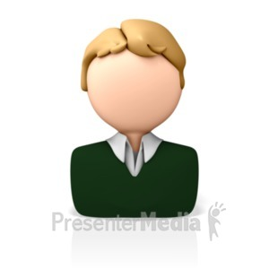 ID# 8174 - Casual Business Icon - Presentation Clipart