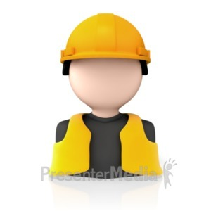 ID# 8178 - Construction Worker Icon - Presentation Clipart
