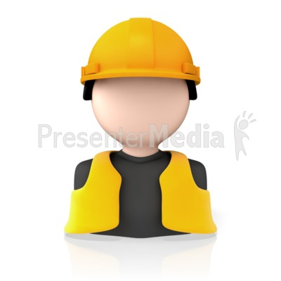 Construction Worker Icon PowerPoint Clip Art