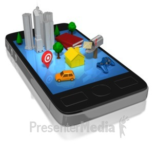 ID# 8180 - Smart Phone Social Life - Presentation Clipart