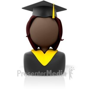 ID# 8186 - Graduate Icon - Presentation Clipart