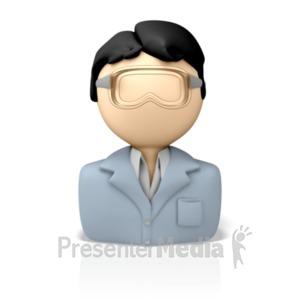 ID# 8187 - Lab Technician Icon - Presentation Clipart