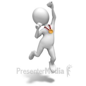 ID# 8188 - Winner Gold Medal - Presentation Clipart