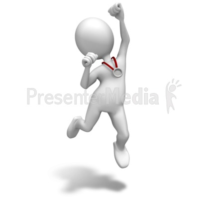Silver Medal Celebrate PowerPoint Clip Art