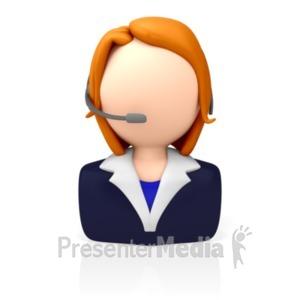 ID# 8211 - Customer Service Icon - Presentation Clipart