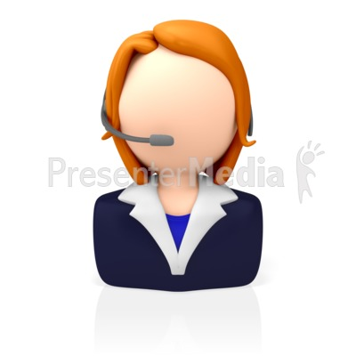Customer Service Icon PowerPoint Clip Art