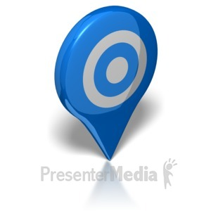 ID# 8212 - Map Target - Presentation Clipart