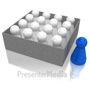 ID# 8220 - Pawn Outside Box - Presentation Clipart