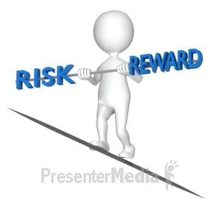ID# 8225 - Balancing Risk Reward - Presentation Clipart