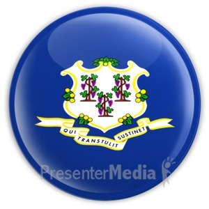 ID# 8252 - Badge of Connecticut - Presentation Clipart