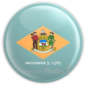 ID# 8253 - Badge of Delaware - Presentation Clipart