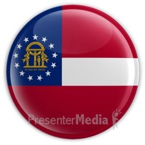 ID# 8255 - Badge of Georgia - Presentation Clipart