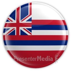 ID# 8256 - Badge of Hawaii - Presentation Clipart