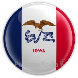 ID# 8260 - Badge of Iowa - Presentation Clipart