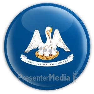 ID# 8263 - Badge of Louisiana - Presentation Clipart