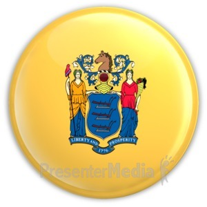 ID# 8275 - Badge of New Jersey - Presentation Clipart