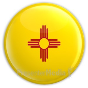 ID# 8276 - Badge of New Mexico - Presentation Clipart