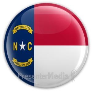 ID# 8278 - Badge of North Carolina - Presentation Clipart