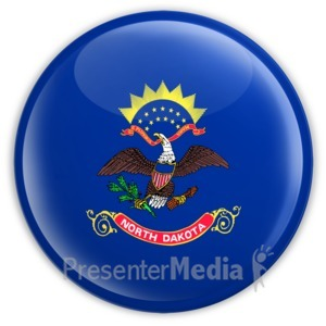 ID# 8279 - Badge of North Dakota - Presentation Clipart