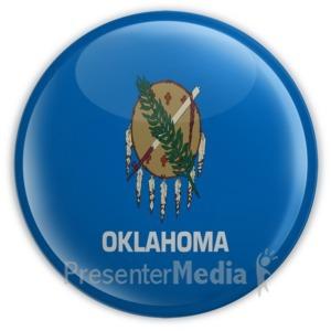ID# 8281 - Badge of Oklahoma - Presentation Clipart