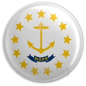 ID# 8284 - Badge of Rhode Island - Presentation Clipart