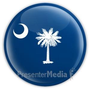 ID# 8285 - Badge of South Carolina - Presentation Clipart