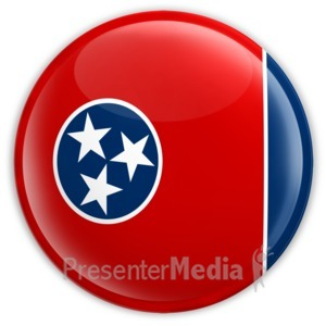 ID# 8287 - Badge of Tennessee - Presentation Clipart