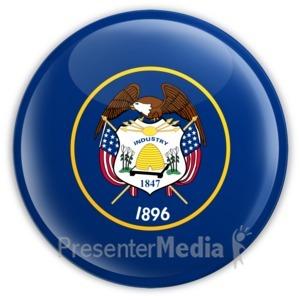 ID# 8289 - Badge of Utah - Presentation Clipart