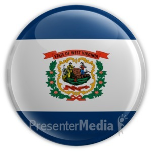 ID# 8293 - Badge of West Virginia - Presentation Clipart