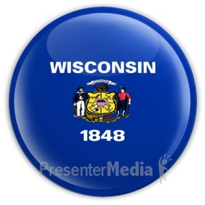 ID# 8294 - Badge of Wisconsin - Presentation Clipart