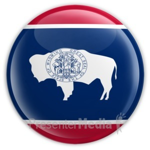 ID# 8295 - Badge of Wyoming - Presentation Clipart